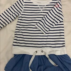 Carter's sweater top ruffle striped size 5